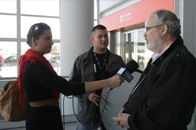 prof. Thomas Hilgers udziela wywiadu TVP
